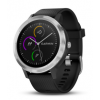 vivoactive 3,  Blk/Blk Silicone, Stainless Steel